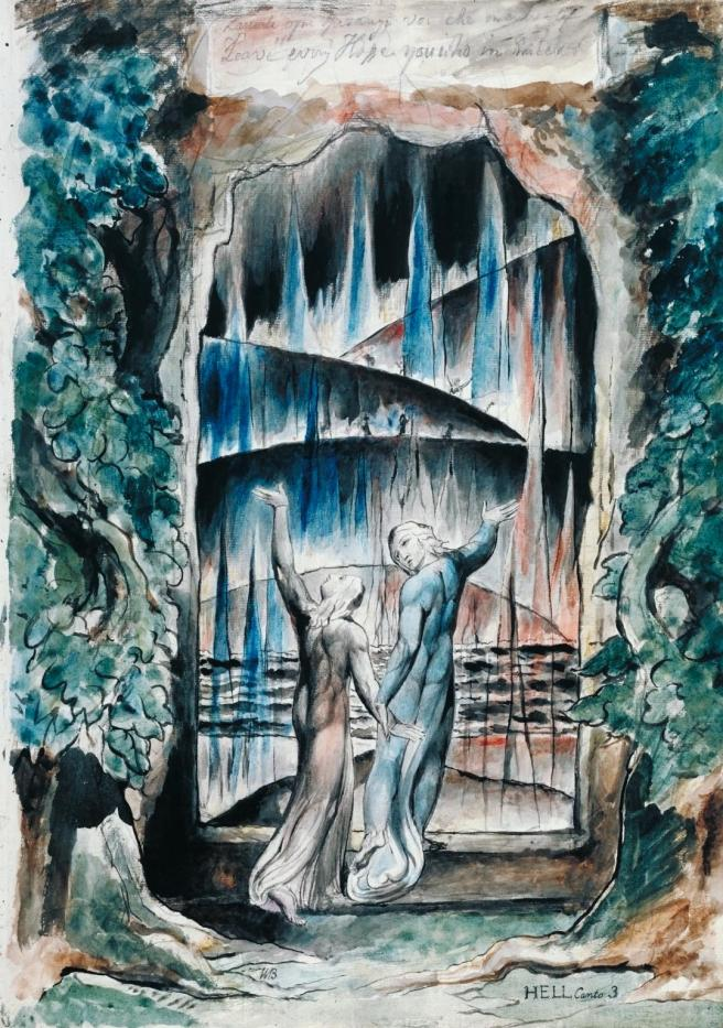 William Blake-The Inscription over the Gate 1824-7