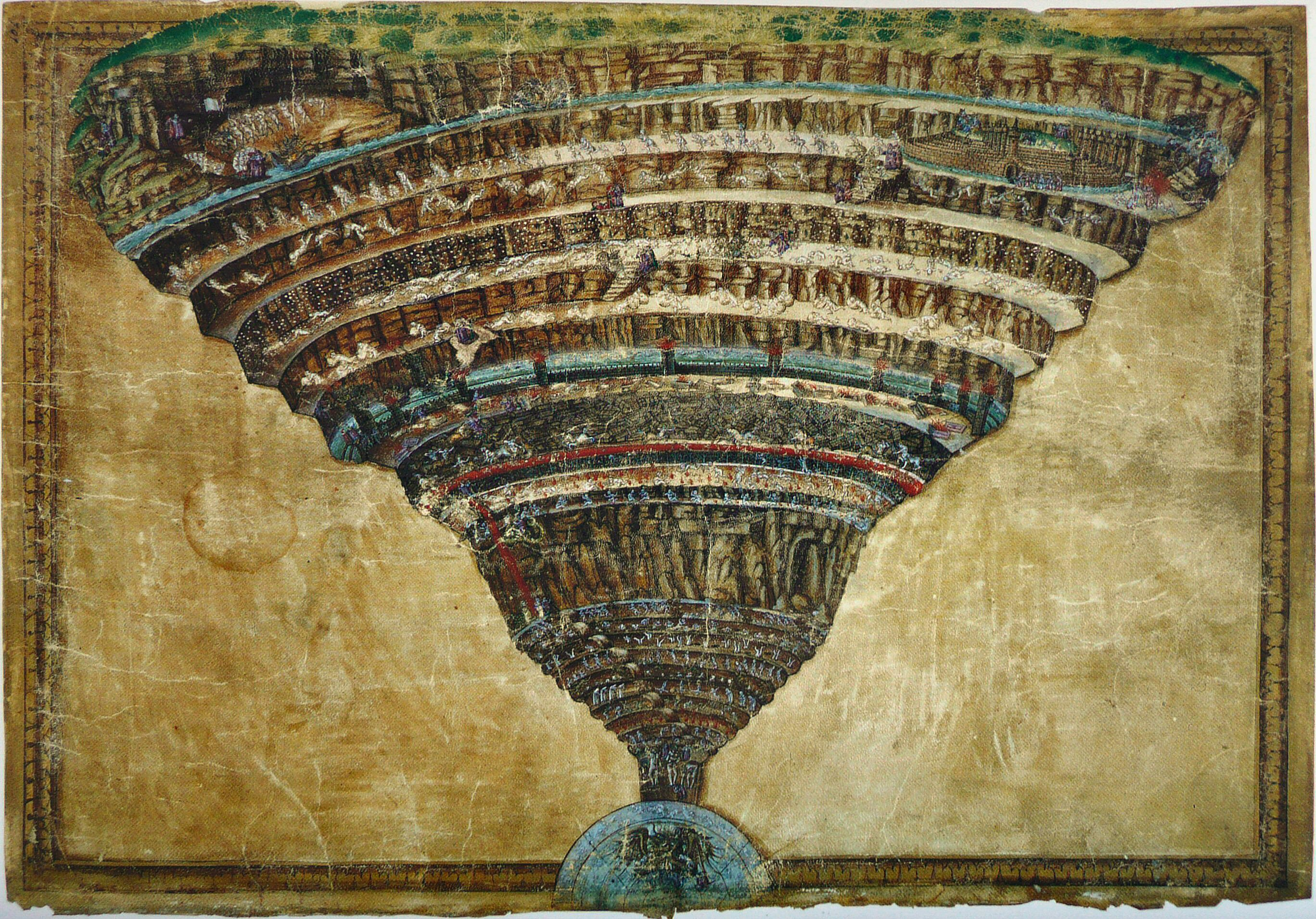 Sandro Botticelli-Map of Hell circa 1485